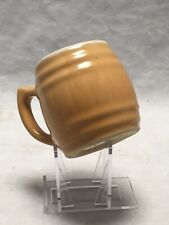Uhl Pottery 3 Ounce Miniature Butterscotch Stein Mug Stamped On The Bottom