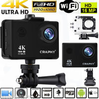 WiFi 4K ULTRA HD 1080P 16MP Actionkamera Helm Kamera Sport DV Video Camcorder