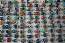 Wholesale Lots 40pcs Mixed Fashion Jewelry Charm Natural Stone Women Rings Gifts