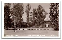 RPPC City College, Los Angeles, CA Real Photo Postcard
