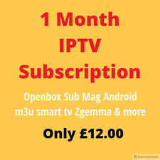1 Month Trial IPTV Service Sub Warranty Mag 254/250 Smart TV Arabic/UK/US/Eu