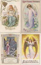 Fröhliche Ostern Lot 4 AK um 1910 Engel Angels Pasqua Easter 1703195