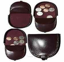 Lot of 4 New Burgundy Leather change purse, Coin case, Coin holder, change case