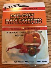 Ertl 1/64 Die Cast Farm Toy International Harvester Round Baler Speed Wheels