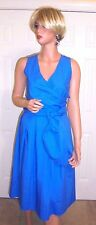 J CREW WRAP DRESS IN COTTON POPLIN NWT SIZE- 0 #F2303 SUNDRENCHED POOL BLUE