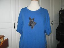 NEW  SCOTTISH TERRIER  HEAD VIEW  EMROIDERED T-SHIRT ADD NAME FOR FREE