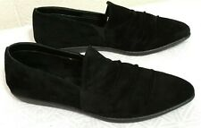 Woman THE FLEXX SHOES Size 11 Black Suede Loafers Pointed Draped toe flats