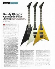 Randy Rhoads Jackson RR 1.5 Concorde Flying V reissued guitar full page article
