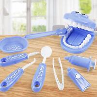 KQ_ HB- KE_ 9Pcs/Set Kids Educational Dental Scene  Funny Teaching Brushing