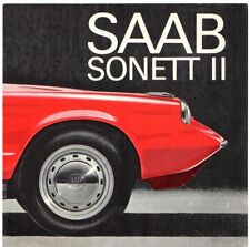 Saab Sonett II 2-Stroke 1966 Export Markets Foldout Sales Brochure In English