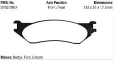 EBC Yellowstuff Brake Pad Set Front / Rear for 00-01 Ram 1500 / 97-04 F150