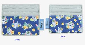 Loungefly Disney Lilo & Stitch Tropical Cardholder Wallet ID Holder Blue