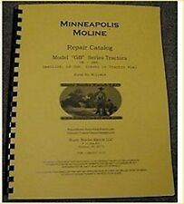 Minneapolis Moline Models GB GBD Tractor Parts manual