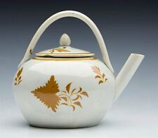 ANTIQUE PEARLWARE MINIATURE TEAPOT 18/19TH C.