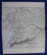 Original antique map, GERMANY, 'CARTE GENERALE D'ALLEMAGNE EN 1789', Dufour 1859
