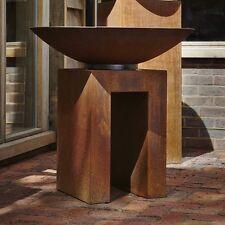40/40/60cm Grado Acero U-Pedestal/quemador De Jardín Soporte De Exhibición/unidad de almacenamiento de madera