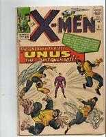 X-Men 8 NICE SHAPE  UNUS Marvel Comics 1964 xmen x men #8