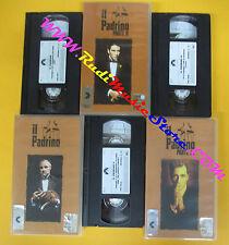 3 VHS film IL PADRINO parte I II III 2000 PARAMOUNT PVS 70027/8/9 (F131) no dvd