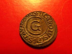 ERROR Sweden 1662 LIVONIA Riga C Carl XI solidus silver Medieval coin