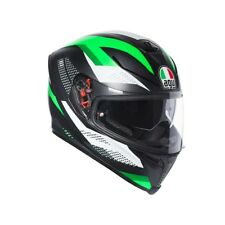 Agv Casco Moto Integrale K-5 K5 S Multi Marble Matto Nero Bianco Verde ml