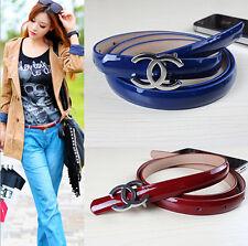 New Fashion Women Genuine Leather Belt Waistband Metal Letter C Buckle