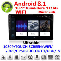 """10.1 """" 2DIN Android 8.1 HD Car Stereo No DVD Radio Player GPS 4G WIFI +Camera"""