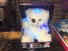 Miri Moo illuminare Teddy Bear Bambini Peluche Giocattolo morbido Glow LED LOVABLE Teddy