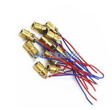 10 X 650nm 6mm 3V 5mW Laser Dot Diode Module Red Copper Head Mini Laser pointer
