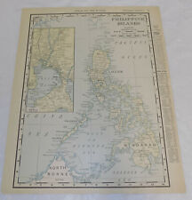 1898 Antique COLOR Map//PHILIPPINE ISLANDS