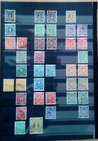 Alliierte Besetzung 1946  Ziffern Briefmarken Sellos Stamps Timbres Konvolut