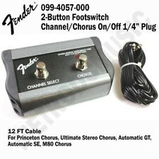 "Fender 2-Button Footswitch Channel/Chorus On/Off 1/4"" Plug Princeton099-4057-000"