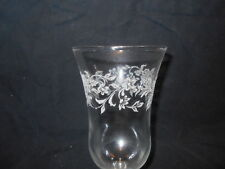 Clear Etched Flowers All Around Votive Cups Lot of 2 Vintage Home Interiors