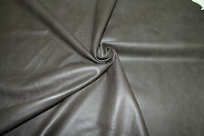 Lambskin leather hide hides skin skins VTG GRAINY DARK TAUPE 9sqf