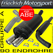 FRIEDRICH MOTORSPORT FM GR.A AUSPUFFANLAGE AUSPUFF TOYOTA COROLLA Schrägheck E10