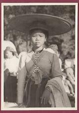 Photo ASIE - THAILANDE - Type de Thaï  folklore chapeau