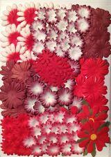 165 flowers petals flower Lot Assorted Red Handmade Mulberry Paper crafts 21