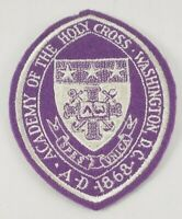 Vtg Academy Of The Holy Cross Patch Crest Catholic Girls School Washington DC