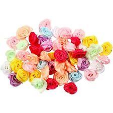 Mini Rosas Raso x 50 Artesanías Para Boda Decoración Tarjeta Scrapbooking