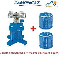 FORNELLO A GAS BLEUET 206 PLUS 1200 W CAMPINGAZ PER CAMPEGGIO + 2 CARTUCCE GAS
