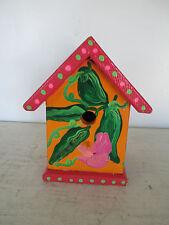 "Handmade Wooden Birdhouse, Handpainted, Great Condition, 9 1/2"" x 8"" x 6"""