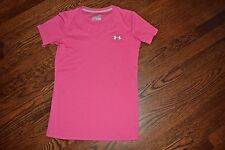 Under Armour womens magenta pink semi-fitted short sleeve shirt sz S