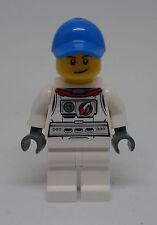 Lego Space Port - Astronaut Figur mit Kappe ( Weltraum spaceport blau ) Neu
