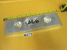 "UM-6 Bolt-on Zinc Plate Anode 12"" x 3"" x 1"" Pre-Drilled Marine Boat Sailing"