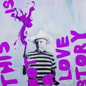 Ausstellungsstück! Motiv Pablo Picasso 95x95 Plexiglas Bild/Loft/Glas/Pop Art