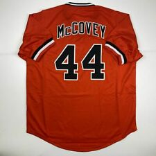 New WILLIE MCCOVEY San Francisco Orange Custom Stitched Baseball Jersey Men's XL