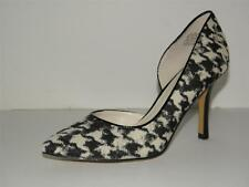 $79 NIB ANNE KLEIN ZYA SIZE 8 AIMAL PRINT WOMEN BLACK FABRIC HEELS PUMPS SHOES
