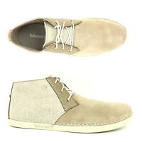 Timberland Men's Bailard Mixed-Media Beige Suede Chukka Shoes A13DF ALL SIZES