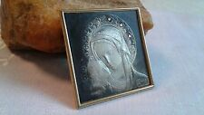 "VINTAGE CATHOLIC STERLING SILVER ""925"" MINI ICON BLESSED VIRGIN MARY CHILD JESUS"