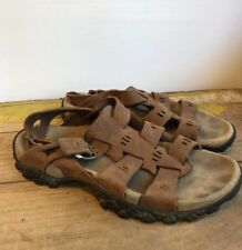 Vintage Nike ACG Men's 7 Brown Leather Strap Sandals Hiking Summer Shoes Buckles