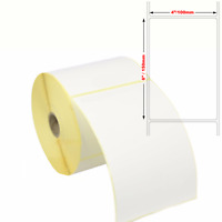 """Thermal White 6 x 4"""" Large Self Adhesive Sticky Labels 150mm x 100mm Brand New"""
